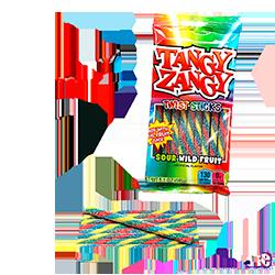 Tangy Zangy Twist Sticks Sour Fruit Peg Bag - Кислые фрукты