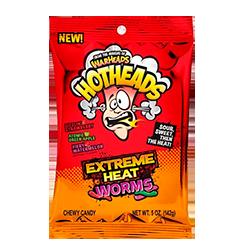 Warheads Hotheads Extreme Heat Worms - Клубника, яблоко, арбуз